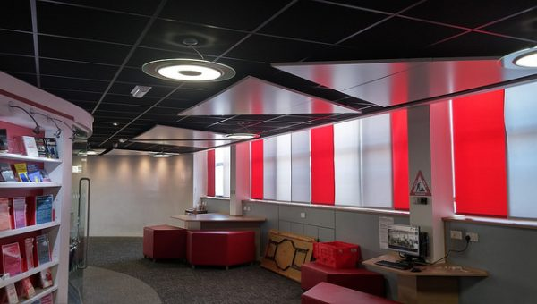 Thermatile radiant panels at City College, Norwich image